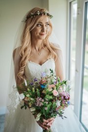 May Wedding Meadow Ranunculas Bridal Bouquet Flower crown