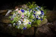 Cornflower Rose Meadow Bridal Bouquet at a  June Wedding