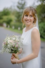 Gypsophilia Succulent Eucalyptus Bridal Bouquet at a July Wedding