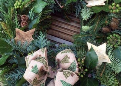 Xmas wreath form Delamere Flower Farm