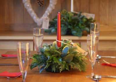 Picture of Candles from Delamare Flower Farm Xmas workshop