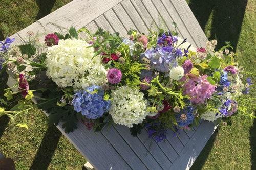 Coffin Spray from Delamere Flower Farm in Cheshire